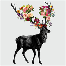 Wall sticker  Spring Itself Deer Floral - Tobe Fonseca