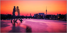 Wall sticker Berlin - Molecule Man Skyline