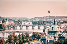 Wall sticker  Balloon over the bridges of Prague - Philipp Dase