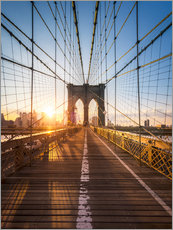 Wall sticker  Brooklyn Bridge in the sunlight, New York City, USA - Jan Christopher Becke