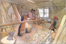 Carl Larsson - Uncle Johan in the farm workshop