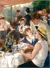 Wall sticker  Luncheon of the Boating (Detail) - Pierre-Auguste Renoir