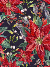 Gallery Print  Christmas floral pattern