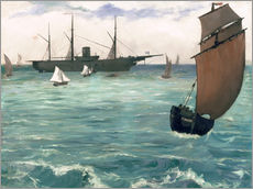 Wall Stickers  The Kearsarge at Boulogne - Edouard Manet