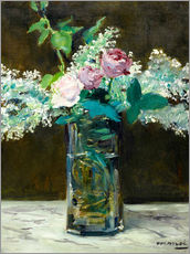 Wall sticker  Vase with White and Pink Lilacs - Edouard Manet