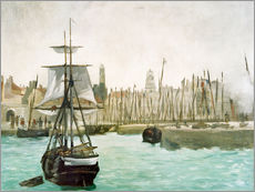 Gallery print  The Port of Calais - Edouard Manet