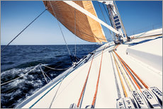Wall sticker Sailing yacht at full speed