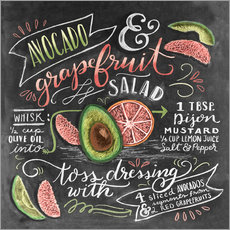 Gallery print  Avocado Grapefruit Salad - Lily & Val