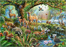 Gallery print  Woodland creatures - Adrian Chesterman