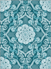 Gallery print  Centered Lace in Sea Green Teal - Micklyn Le Feuvre