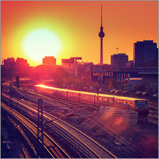Wall sticker Berlin - Sunset Skyline