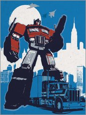 Wall sticker  Optimus Prime, Transformers - 2ToastDesign