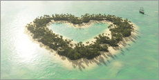 Gallery print  The heart island - Peter Weishaupt