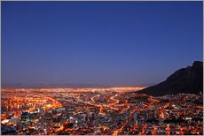 Gallery print  Cape Town at night, South Africa - wiw
