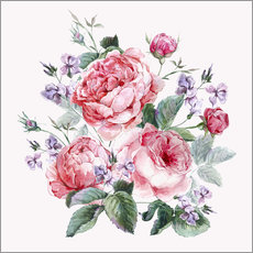 Wall sticker Bouquet of English roses