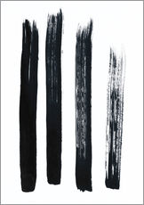 Gallery Print  Abstract brush strokes