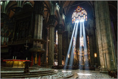 Wall Stickers  Beams of Light inside Milan Cathedral