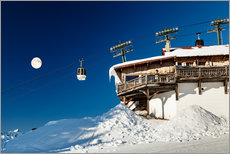 Gallery Print  Chairlift and lodge in Megève