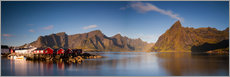 Gallery print  Panorama fishing village Hamnoy, Lofoten, Norway - Circumnavigation