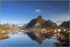 Gallery print  Refelction at Reine, Lofoten, Norway - Circumnavigation