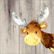 Wall Stickers 4 Friends - Forest Animals - Moose