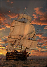 Gallery print  The HMS victory - Peter Weishaupt