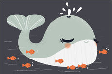 Gallery print  Animal friends - The whale - Kanzilue