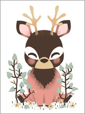 Gallery print  Animal friends - The deer - Kanzilue