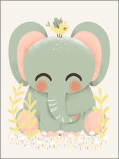 Gallery print  Animal friends - The elephant - Kanzilue