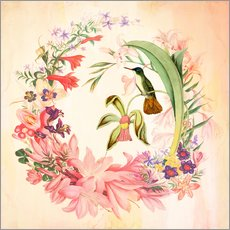 Wall sticker Hummingbird I