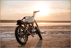 Gallery Print  Retro motorcycle in the desert