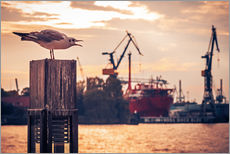 Wall Sticker  Hamburg Harbour - Alexander Voss