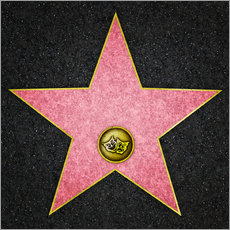 Gallery print  Blank Theater star, Hollywood Boulevard