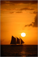 Wall Stickers  Sailing ship and sunset, Key West