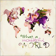 Wall sticker  What a wonderful world (Map) - Mandy Reinmuth