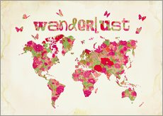 Wall sticker Wanderlust Pink