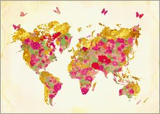 Gallery print  Summer World Map - Mandy Reinmuth
