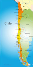 Gallery print  Chile - Map