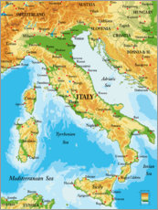 Acrylic print  Map of Italy