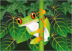 Gallery print  Hold on tight little frog! - Kidz Collection