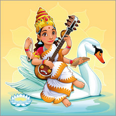 Wall sticker  Saraswati with a swan - Kidz Collection