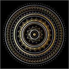 Gallery print  Mandala on black