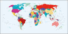 Kidz Collection - World Map - Country overview, updated 2003