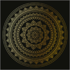 Wall Stickers Mandala on Black
