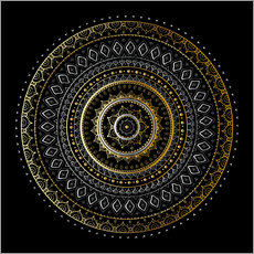 Wall sticker Mandala gold/silver