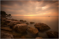 Wall sticker  Lake Garda Bardolino Sunset Italy - Filtergrafia