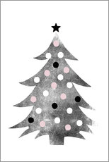 Gallery print  Polka-dot Christmas tree - Ohkimiko