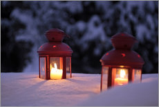 Wall Stickers  Red lanterns in the snow - Christian Müringer