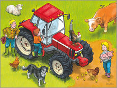Wall sticker Red Tractor
