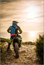 Gallery print  Enduro racer on the coast